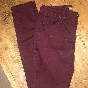 Pants - Maroon Skinny Jeans